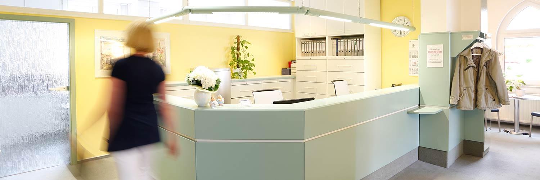 Hausarzt Salzwedel - Bark - die Rezeption unserer Praxis