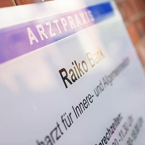 Hausarzt Salzwedel - Bark - Praxisschild